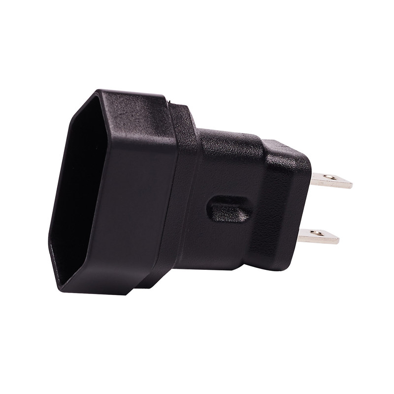 USA 2Pin Male to Europe 2Pin Female AC Adapter PA-0175