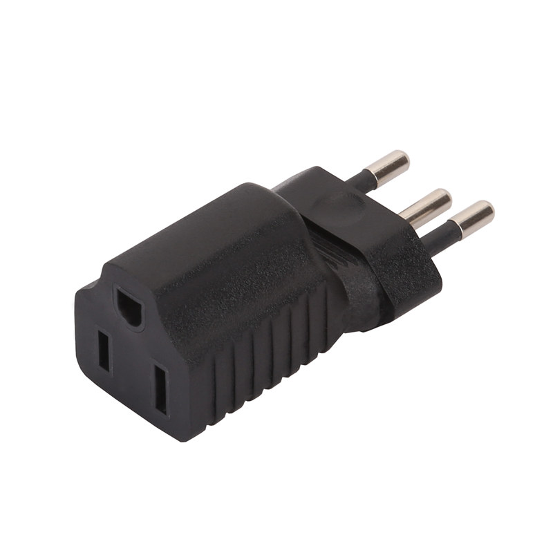 Brazil 3Pin Male to USA 3Pole Female AC Adapter PA-0155
