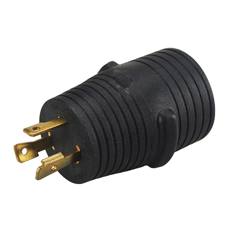 [L5-30P to 14-50R] Plugrand Nema L5-30 30 AMP Plug to 14-50 50 AMP Receptacle Generator Adapter, Nema L5-30 to 14-50 30A to 50A 30A Male to 50A Female Generator Adapter PA-0311